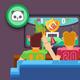 Men Sacramento Kings White Camo Team Logo Core Performance T-Shirt
