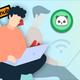 Men's Detroit Lions Sam Martin 2019 Ugly Christmas Light Up Sweater - Blue Silver