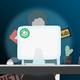 New England Patriots Calvin Munson Women's Plus Size Color Block 3/4 Sleeve Tri-Blend T-Shirt - White