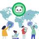 NHL Born To Play Hockey Forced To Go To School Team Work Hockey Nerd Shower Curtain